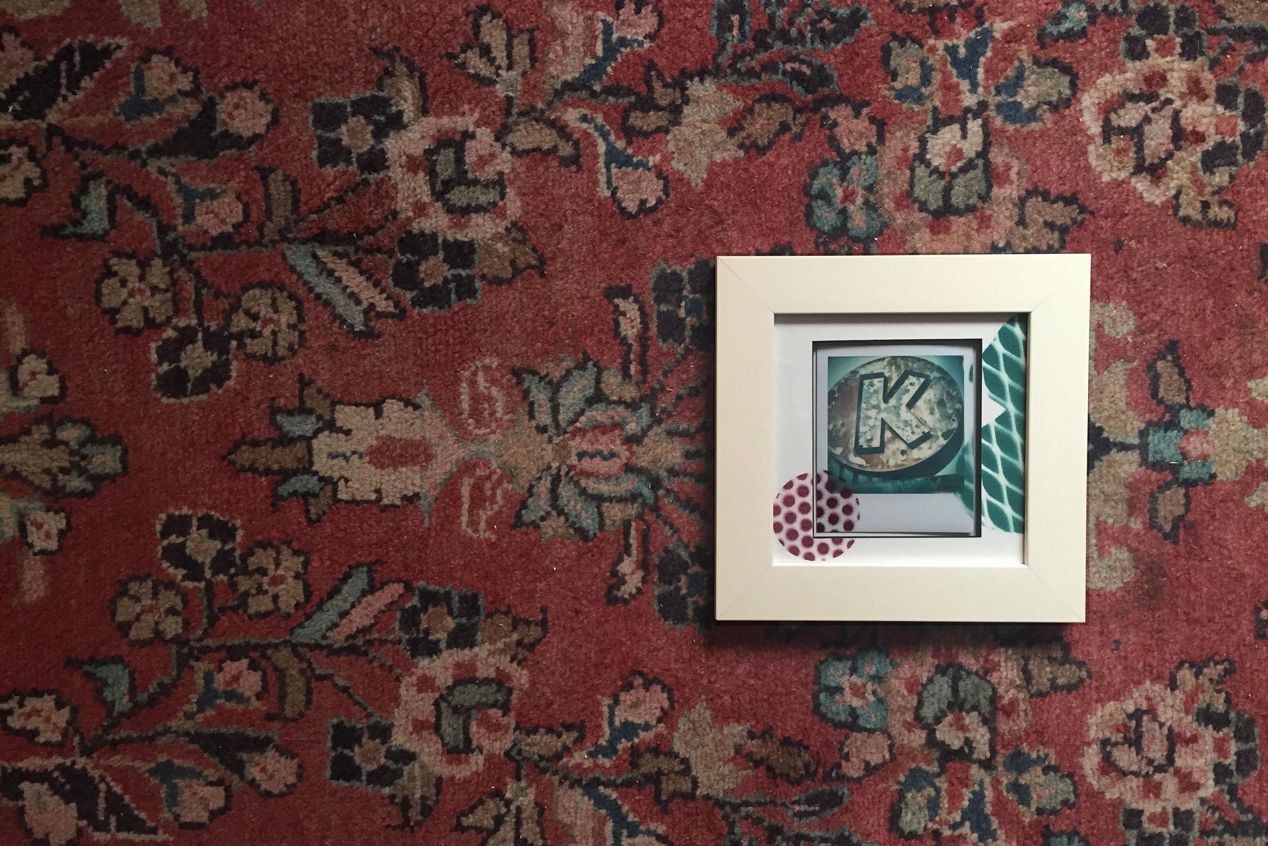 Polaroid artwork framed