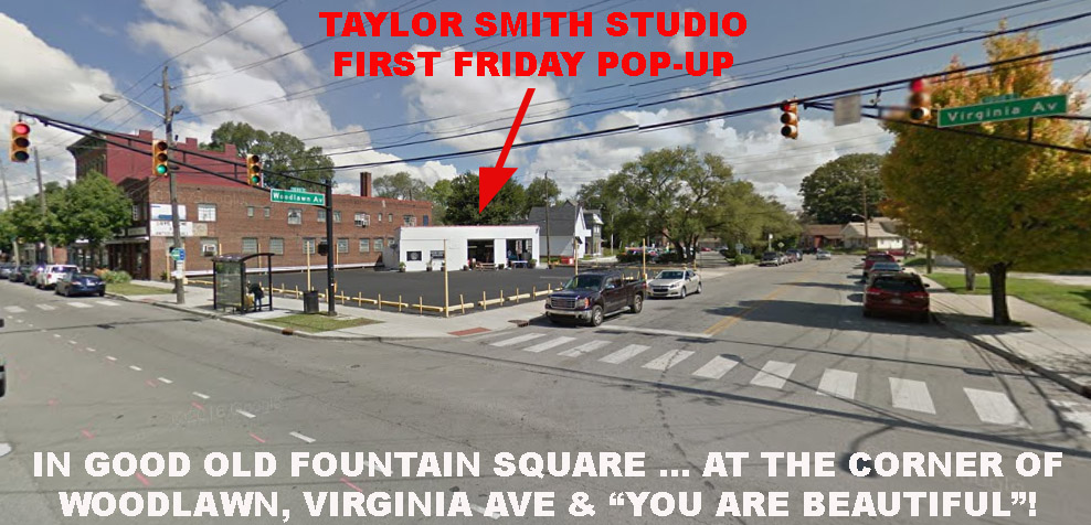 Taylor Smith artist studio First Friday pop-up