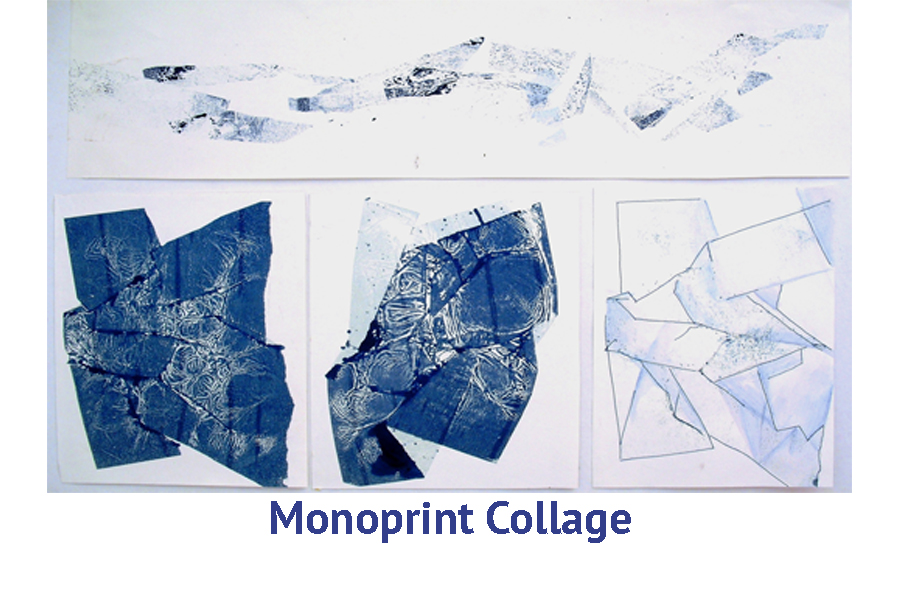 Monoprint Collage artist travel Workshops