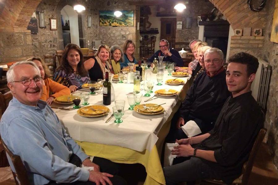 Art travel workshop group dinner taylor smith artworkshop series France.jpg