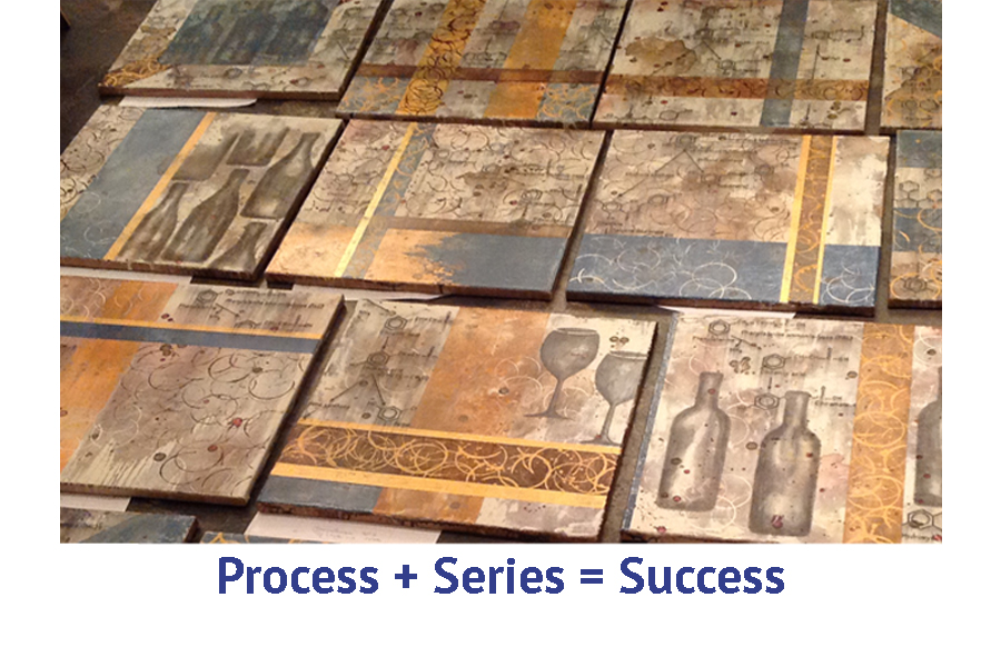 Process and series equals success in abstract painting art travel workshop