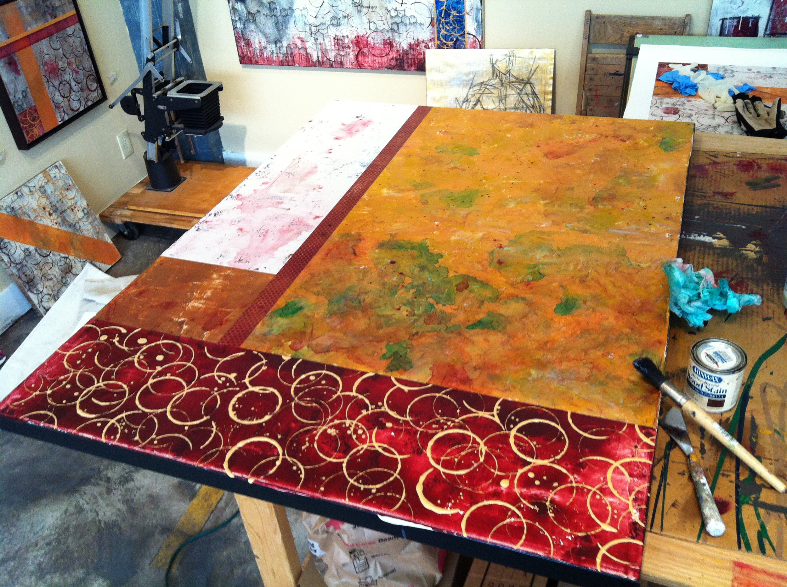 [In Progress View] Abstract Landscape - Perfect Chemistry in Red