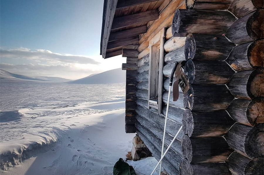 Cabin Snow climate change protect winter artwork fundraising.jpg