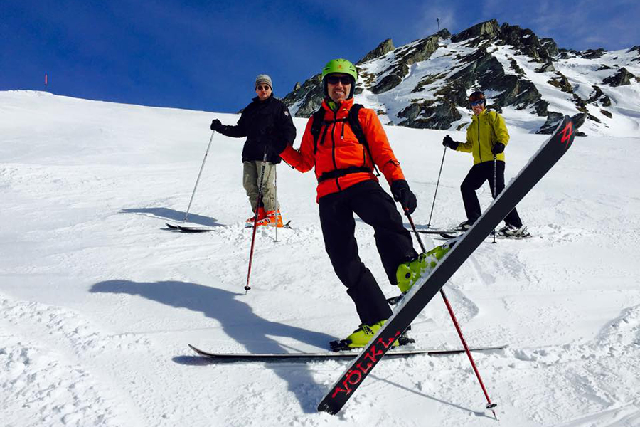 Peter, Florian & Mats in Verbier support fine art and saving the snow