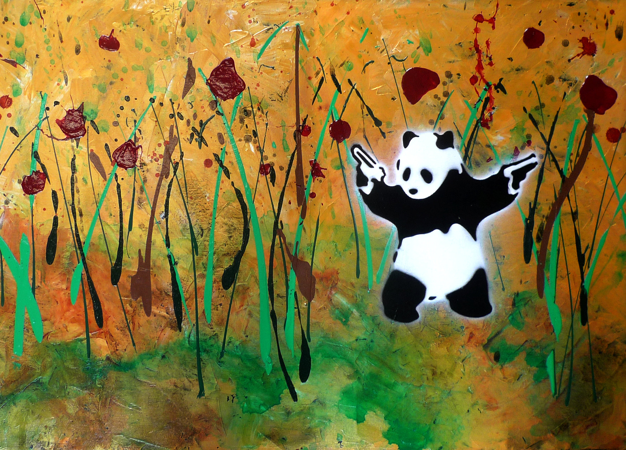 [Detail View] Abstract Landscape with Yakuza Panda