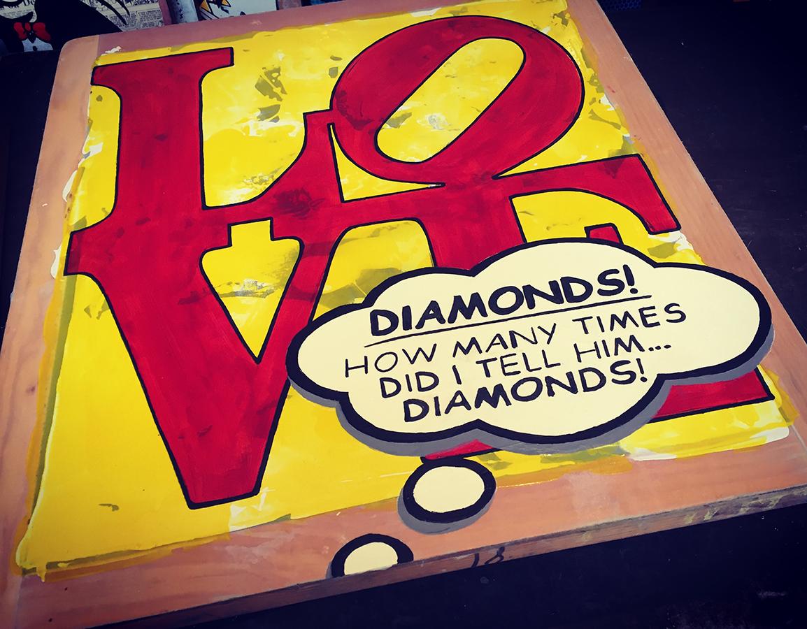 In Progress Studio View - Diamonds! I Told Him Diamonds!