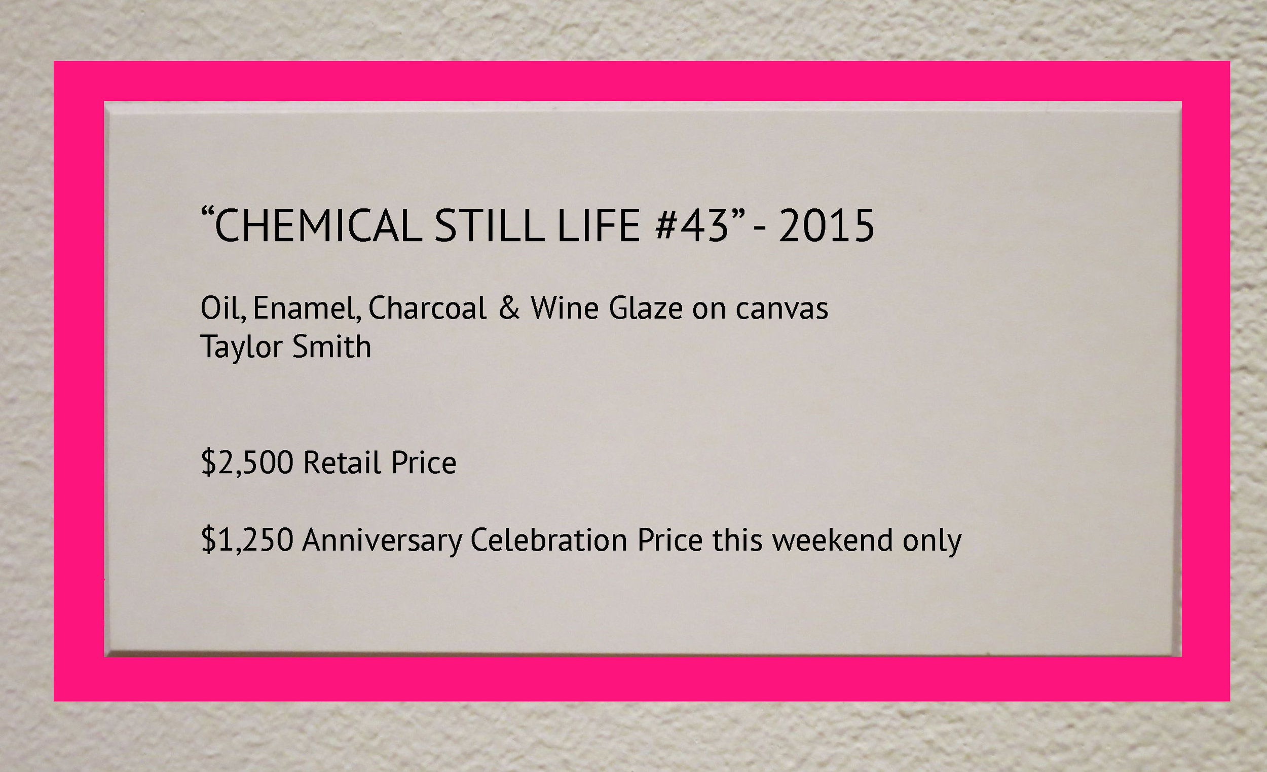 Look for labels with a pink border. Artworks with these labels will be 50% discount