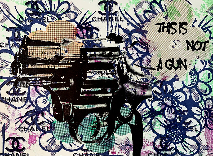This Is Not A Gun original painting by contemporary pop artist Taylor Smith.jpg