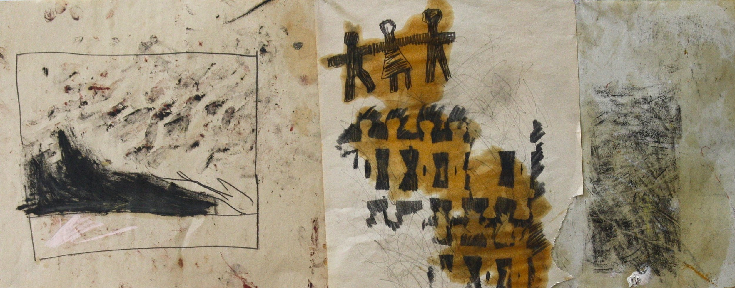 disasters of war_oil on paper 14x33 2013.jpg
