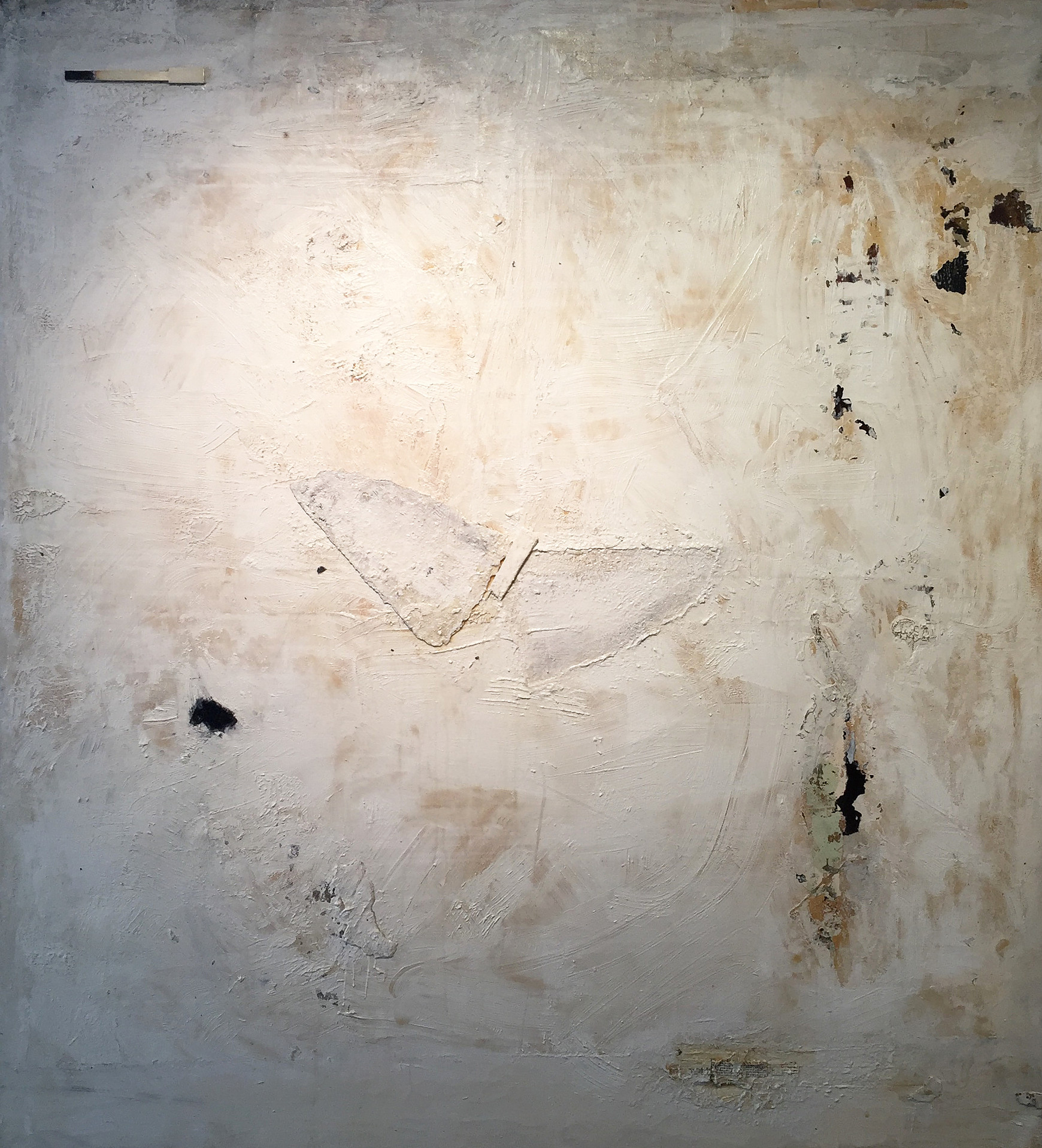 In the form of 2 wings_20216_64x58_Oil paint_recycled canvas parts_glue adhesive & paper.jpg
