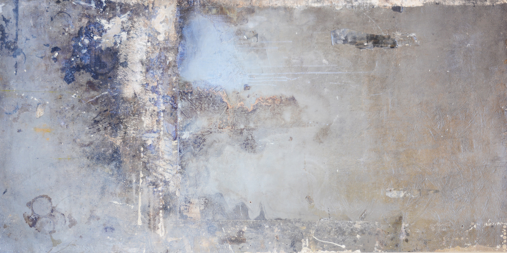 Water seeks its own level_2016_36x72_house paint_emulsion_oil paint_shellac_ink & stain emulsion.jpeg