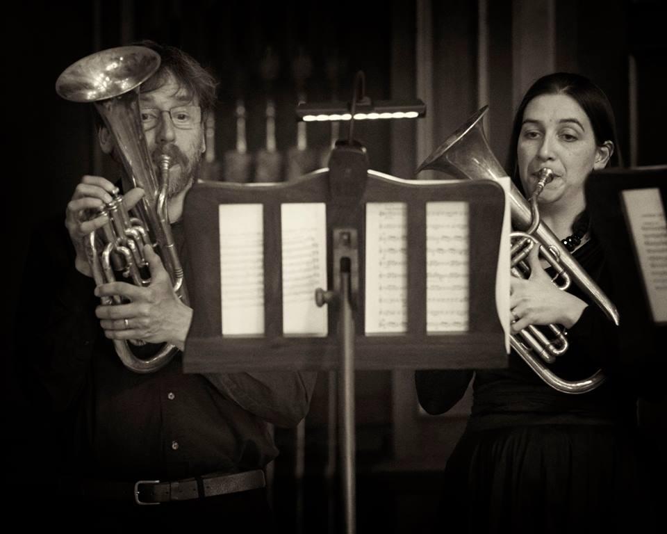 Nick Perry and Anneke Scott - The Prince Regent's Band at Hampton Court (photo Daniel Serafini)