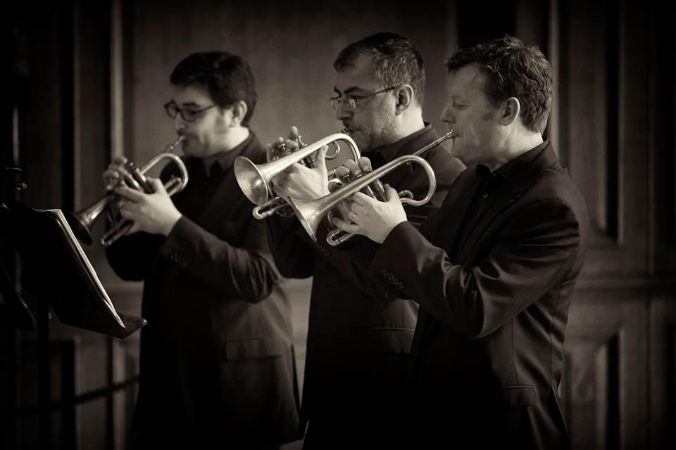 Sam Goble, Richard Thomas, Richard Fomison - The Prince Regent's Band at Hampton Court (photo Daniel Serafini)