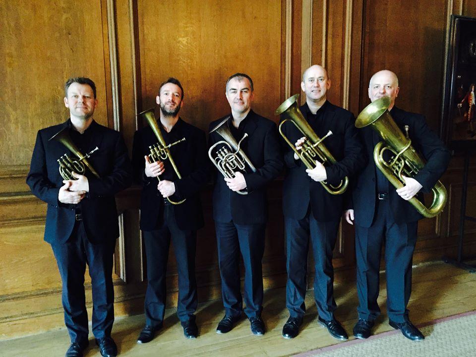 Richard Fomison, Fraser Tannock, Richard Thomas, Phil Dale and Jeff Miller - The Prince Regent's Band at Hampton Court
