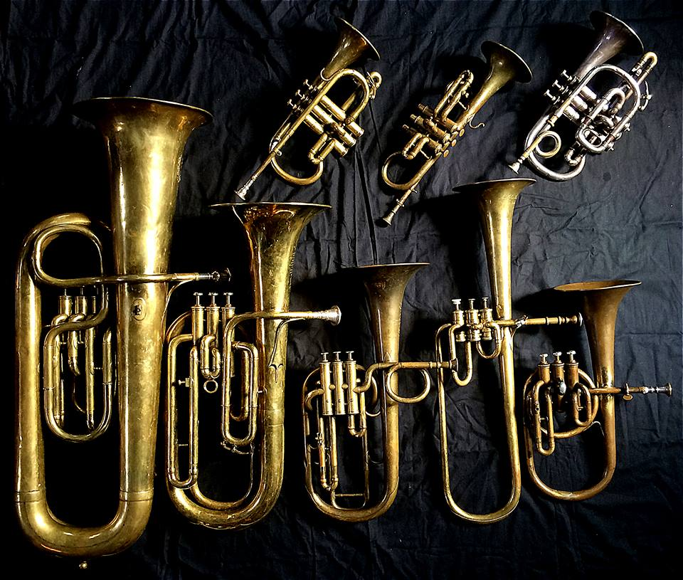 """Instruments used in """"The Celebrated Distin Family"""" recording"""