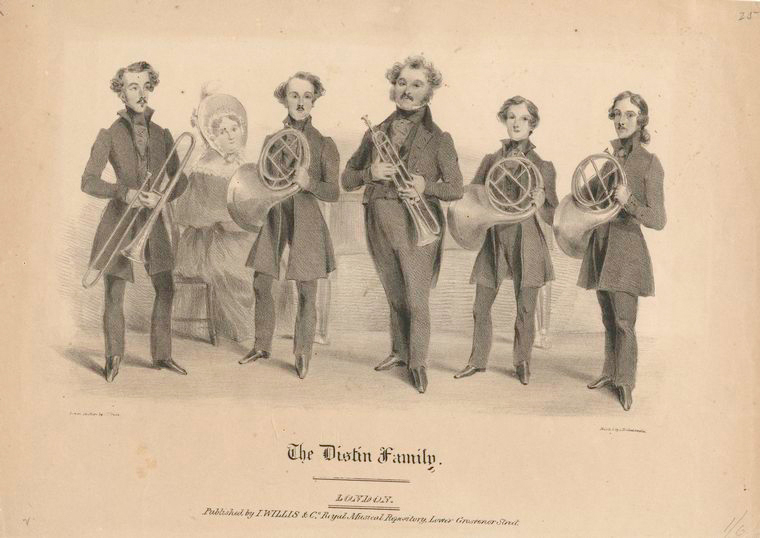 The Distin Family by John William Gear (1806-1866).  The New York Public Library Digital Collection.