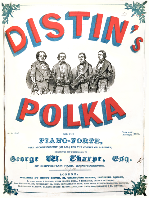 Distin's Polka , published by Henry Distin (1850). British Library (h.951.)