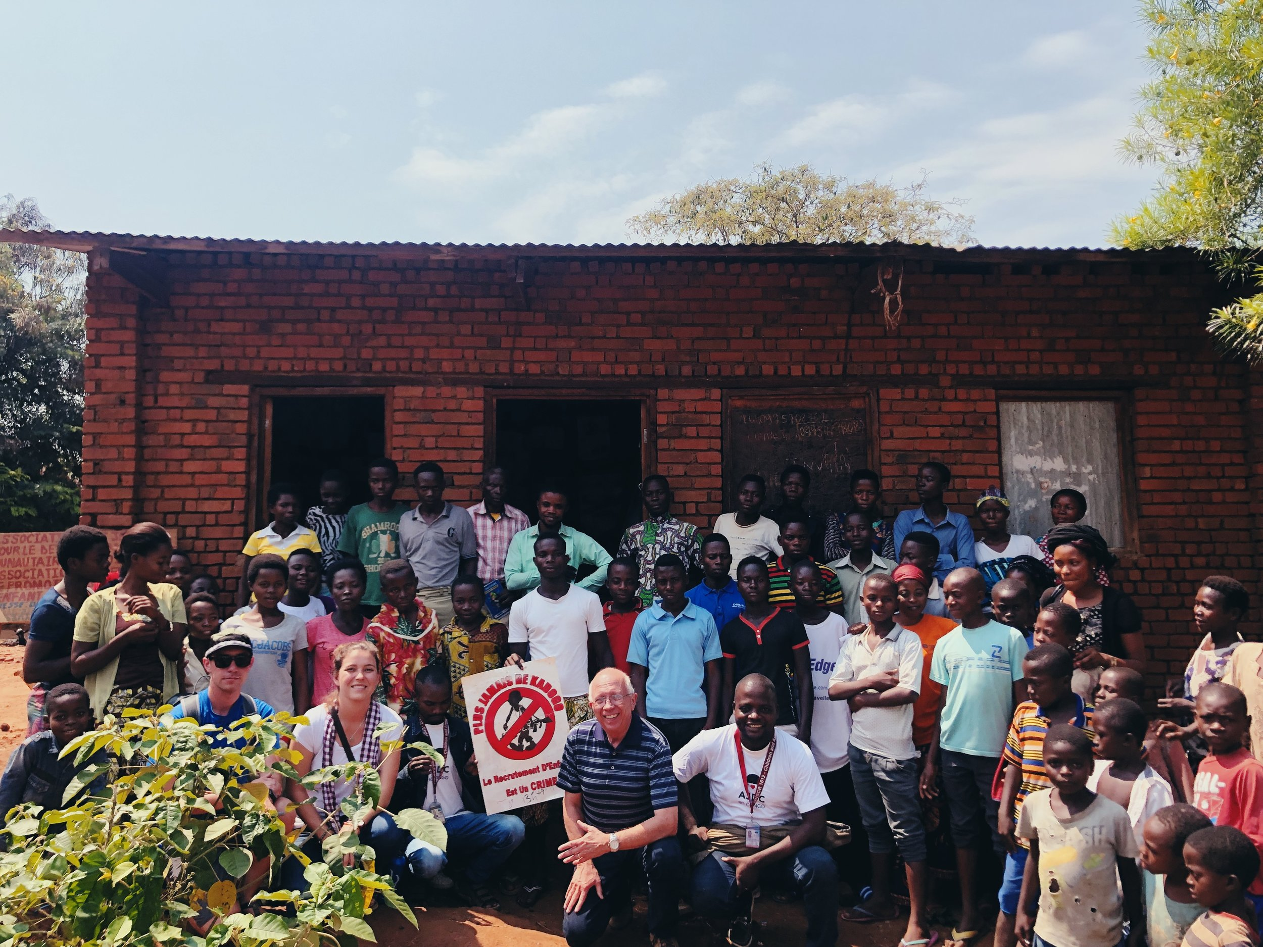 the ForgottenSong visitors with the Goat Project recipients