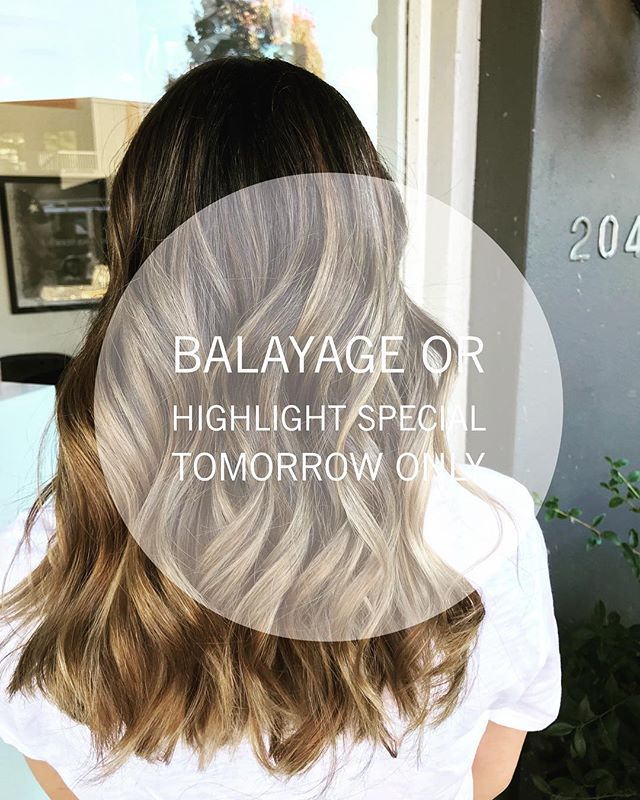 💫SPECIAL DEAL 💫  Tomorrow ONLY we have a spot with Jaime @yyjhairbyj  at 12pm BOOK NOW and get balayage or highlight service with 10% OFF!!! . . . . Call or DM for this deal and mention this post ! . . #hair #yyjhair #yyjdeals