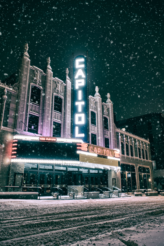 Photo of the Capitol Theatre by Eric Hergenreder,   available here.