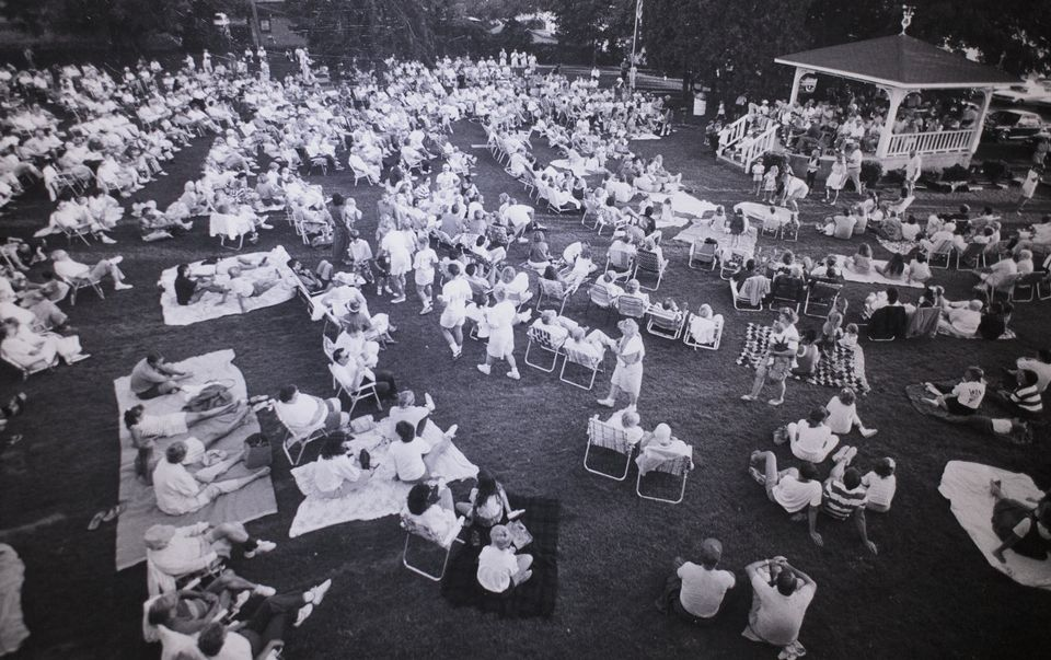 The Pentwater Village Green in 1989, photo via Muskegon Chronicle