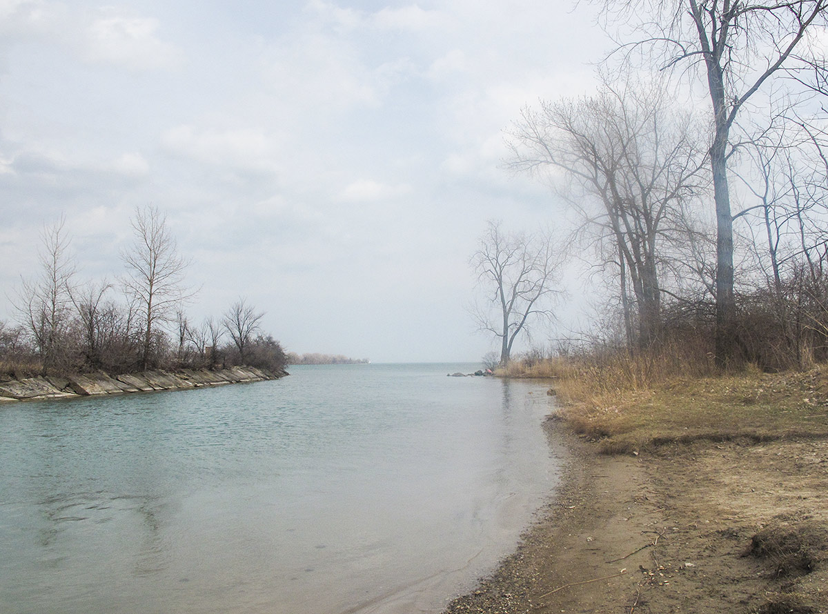 Photo of Hippie Beach in the fall by Lowell at  DetroitYES!