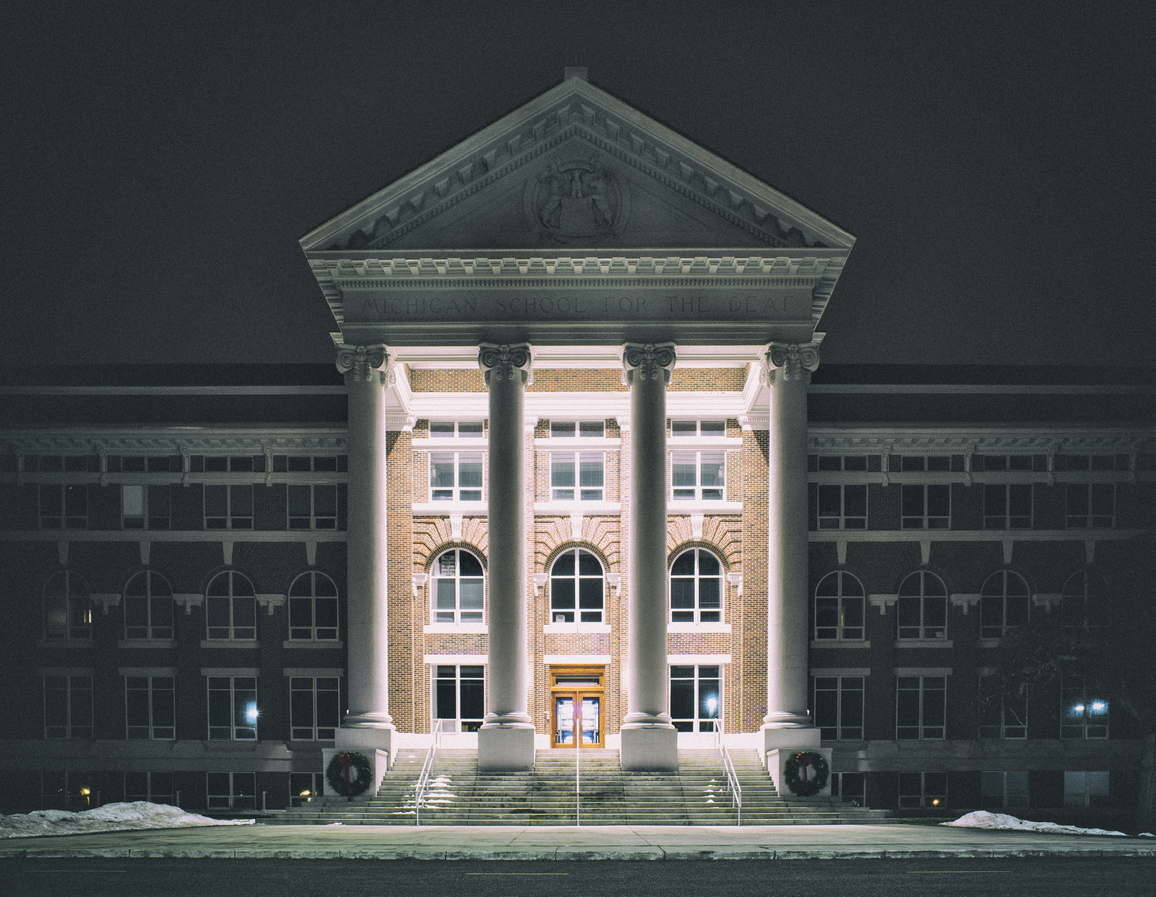 Photo of the Michigan School for the Deaf by Eric Hergenreder