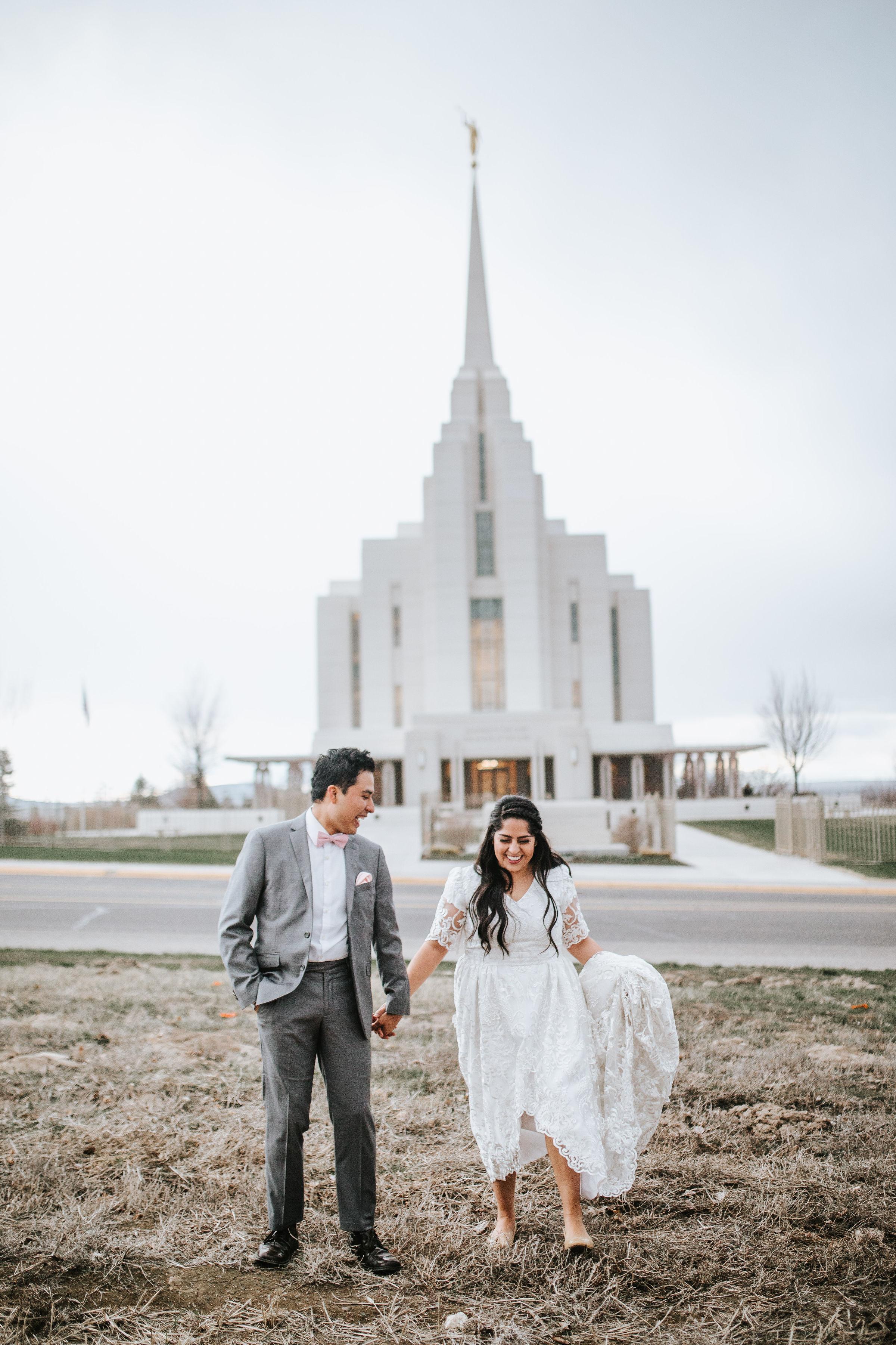 rexburg idaho temple session bridals