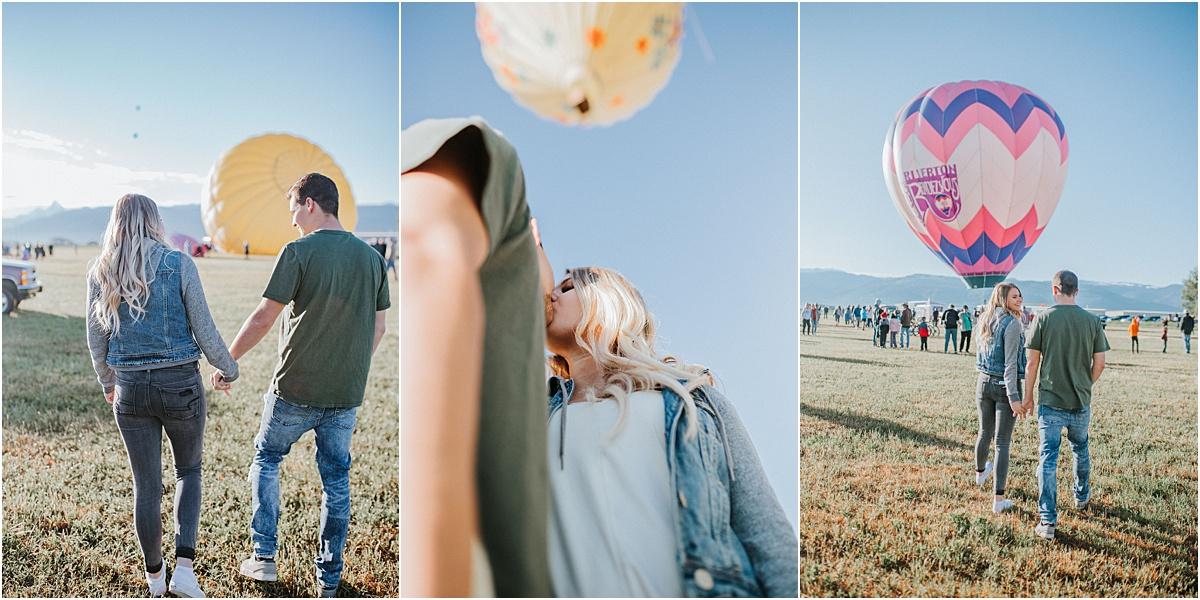 Grand Teton Hot Air Balloon Proposal Engagement  Session