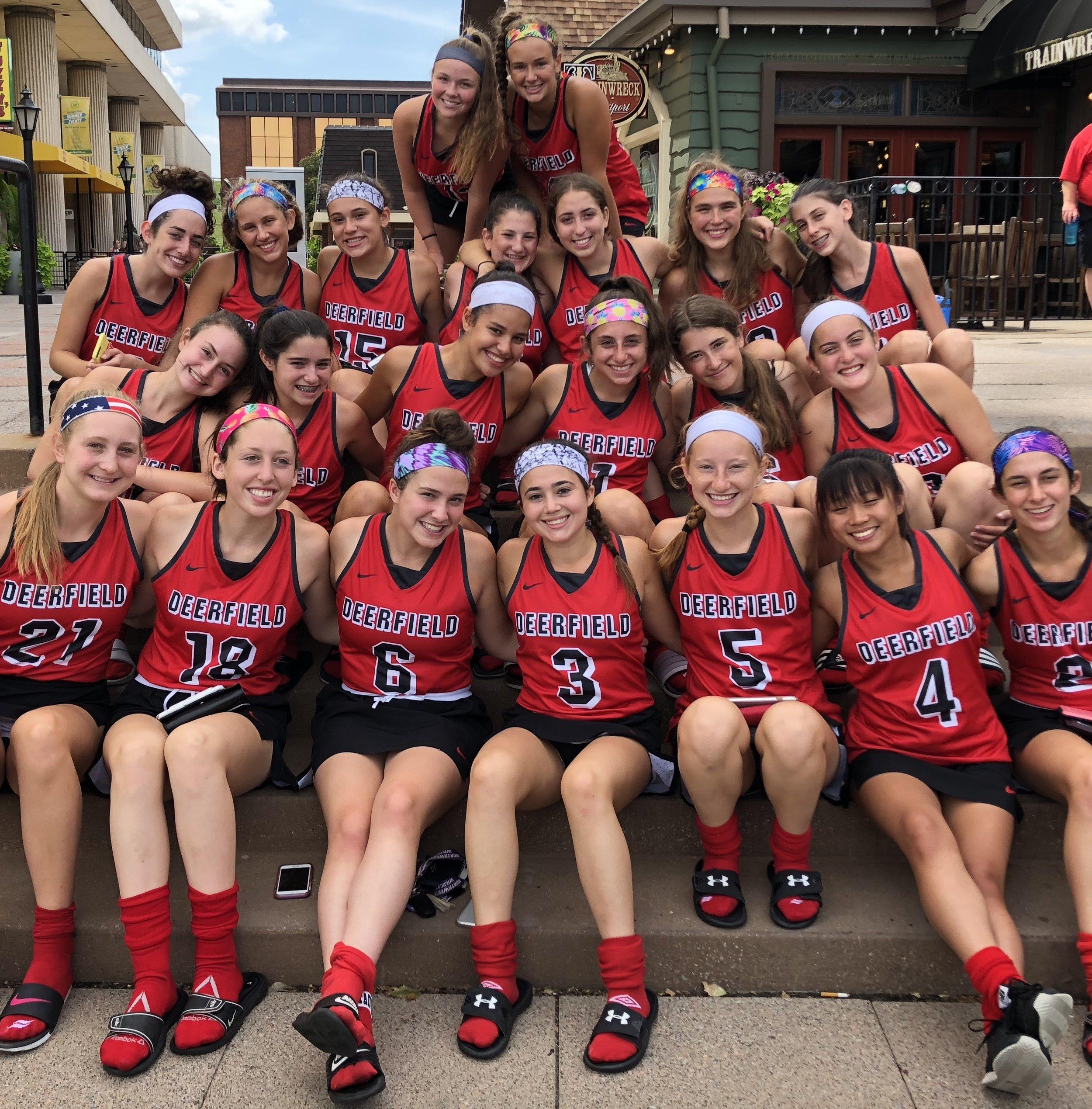 2018 Deerfield High School Varsity Field Hockey Team