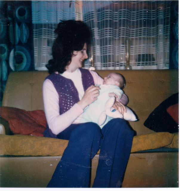 'Seems strange how much remains'-Forget-me-nots.'   Myself with my grandmother 1974.