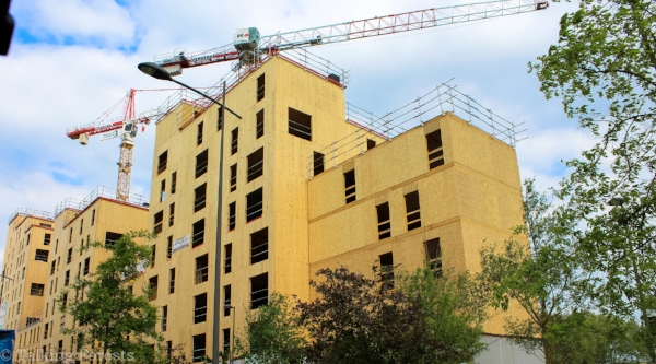 The building is going up quick and offers some great scenery to look at. Photo Credit: Talking Forests