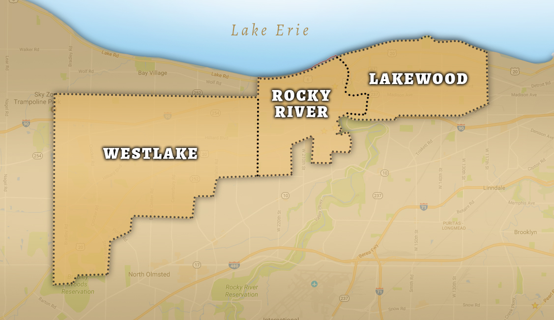 Our Delivery Area includes Lakewood, Rocky river and Westlake, Ohio -