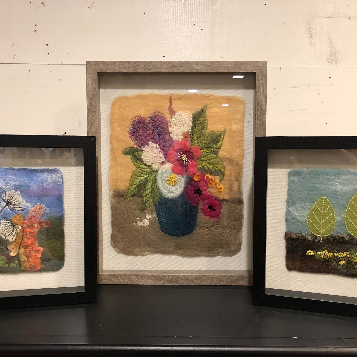 Kathy Forzley    Amazing felting artist has her work at Sweet Peony and also teaches Wet Felting Classes at My Sweet Peony!