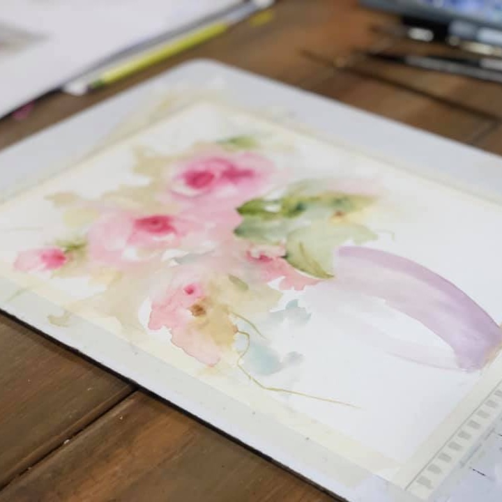 Cathy Dykstra    A wonderful Watercolor and Acrylic Painter who teaches classes at My Sweet Peony and all over West Michigan