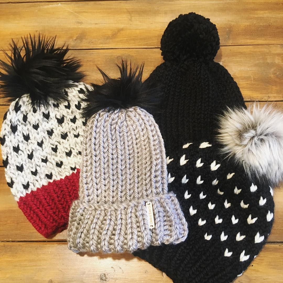 Charlie & Luna Co.    Hand-knit wool hats. Made in Michigan