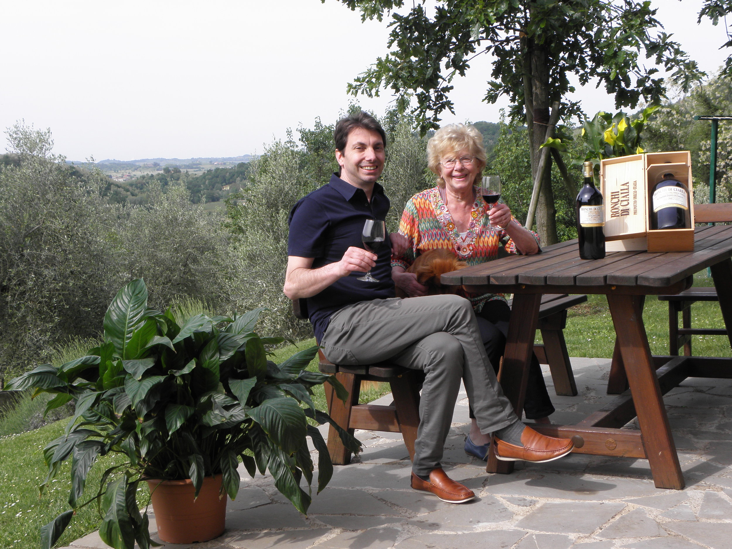 "The Ronchi di Cialla estate is strictly a family business.  While Dina and Paolo Rapuzzi, who founded it in 1970, were attracted by wine growing as a way of living, their children Pierpaolo and Ivan belong to a generation that ""grew up with vines"".  Both of them have, in fact, a degree in Food Sciences and are agrarian experts; they firmly support the Ronchi di Cialla policy and immemorial wine making tradition in Friuli.  This family has thus become an uncommon heir of ancient traditions on one hand and modern scientific knowledge on the other making this small family business out of the ordinary."