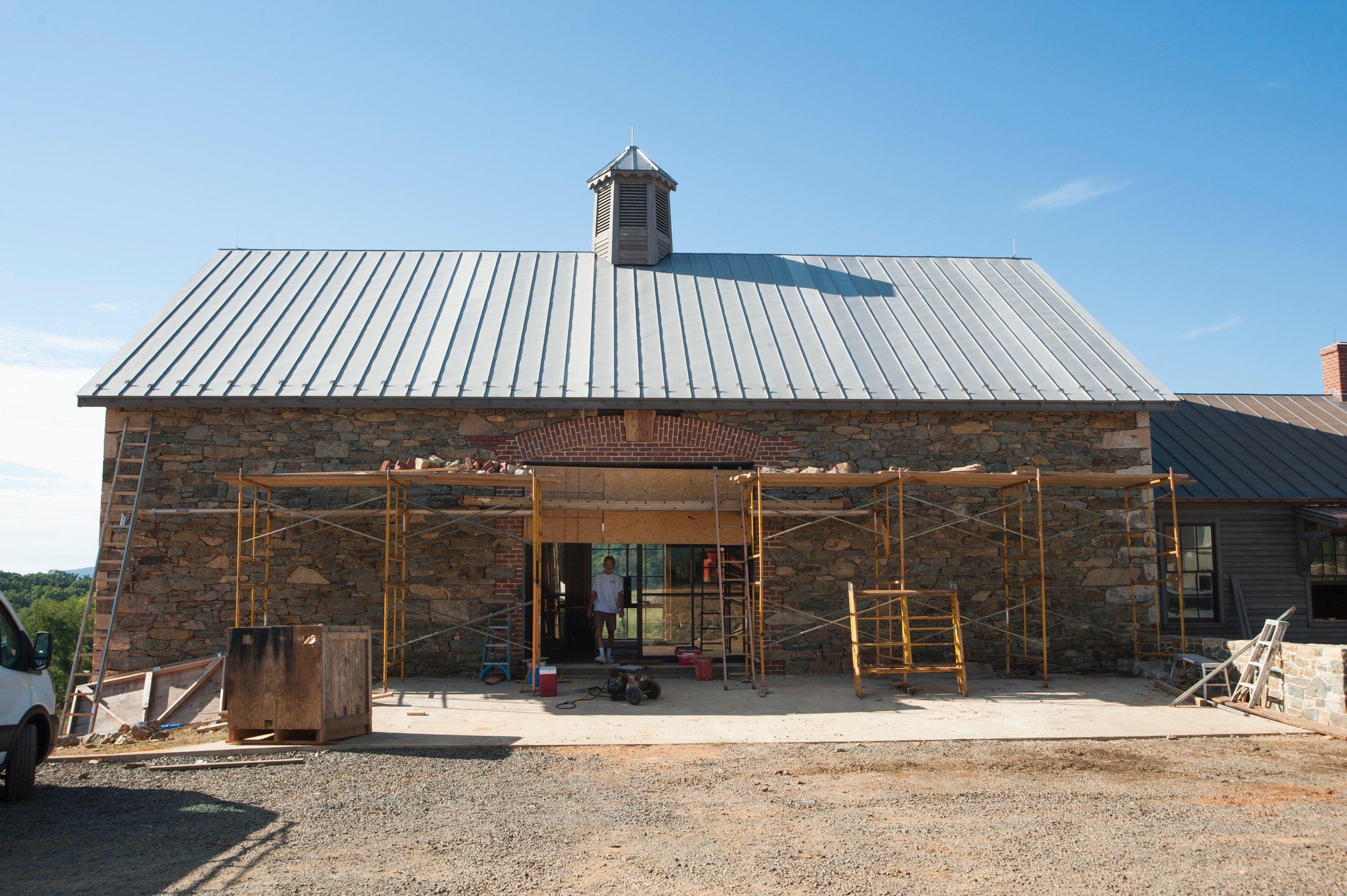 Upper level of the barn at Washington, Virginia.