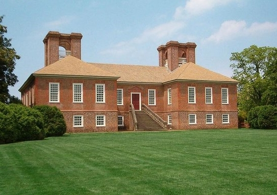 Cochran's restored brick walls at Stratford Hall, home of the Lees of Virginia and birthplace of Robert E. Lee.