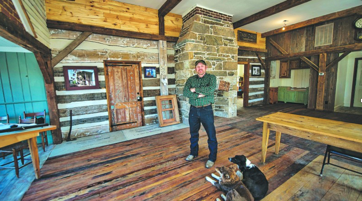 Allen Cochran of Cochran's Stone Masonry in his office in the historic Janney Country Store in Lincoln. (Photo by Douglas Graham/Loudoun Now)