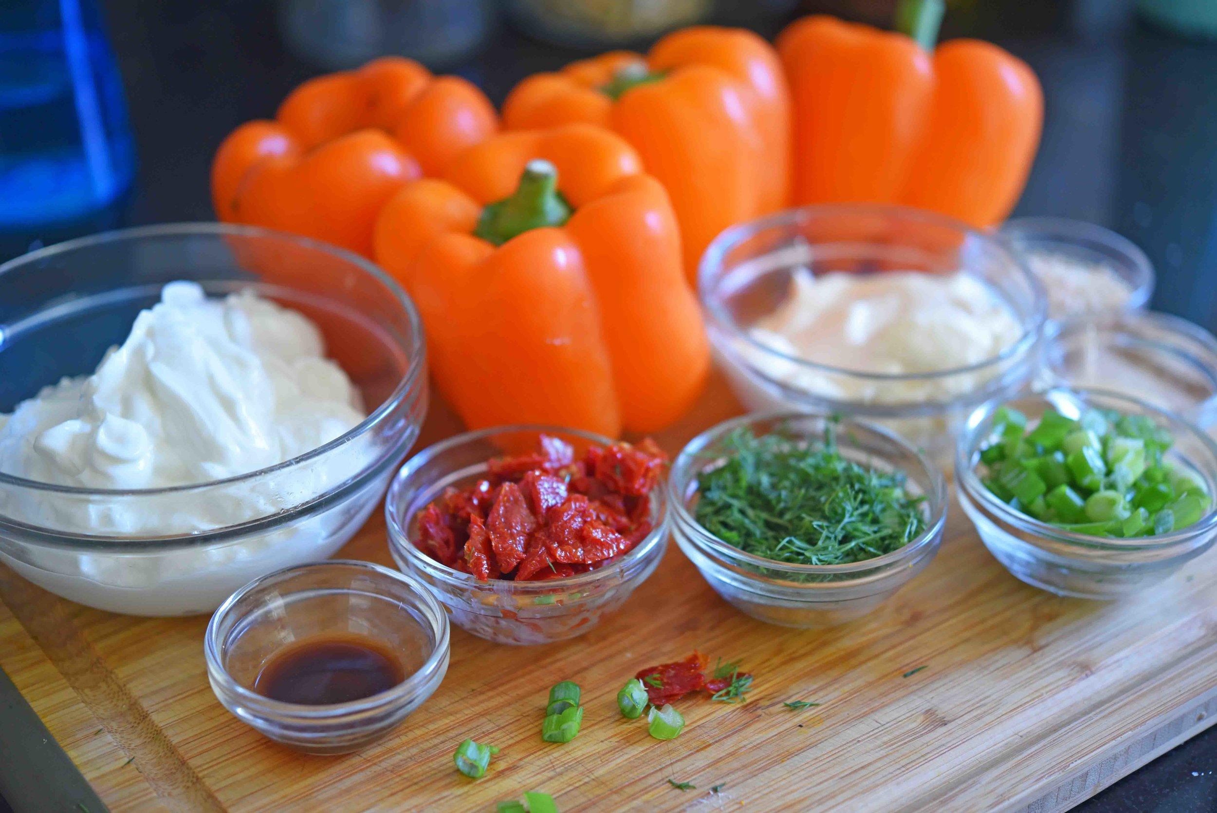 Jack-o-Lantern Veggie Dip Bell Peppers 1.jpg