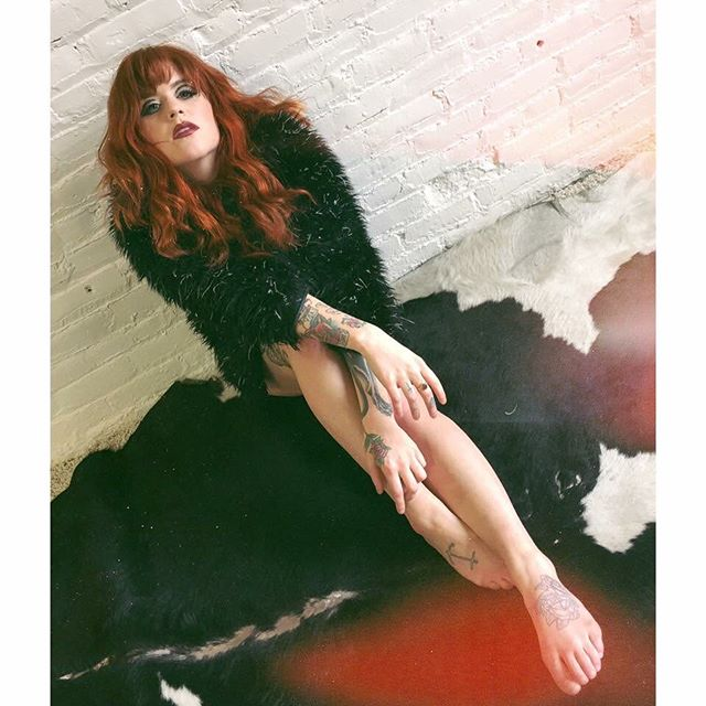 It's a new #wcw for me 🌹 Total babe and vintage collector @slayboy.bunny is a model, stylist, and bangin musician. Plus a fiery red head. WIN. . . . . #model #musician #caitford #stylist #inspo #womensupportingwomen #noboringmedia #babeland #singersongwriter
