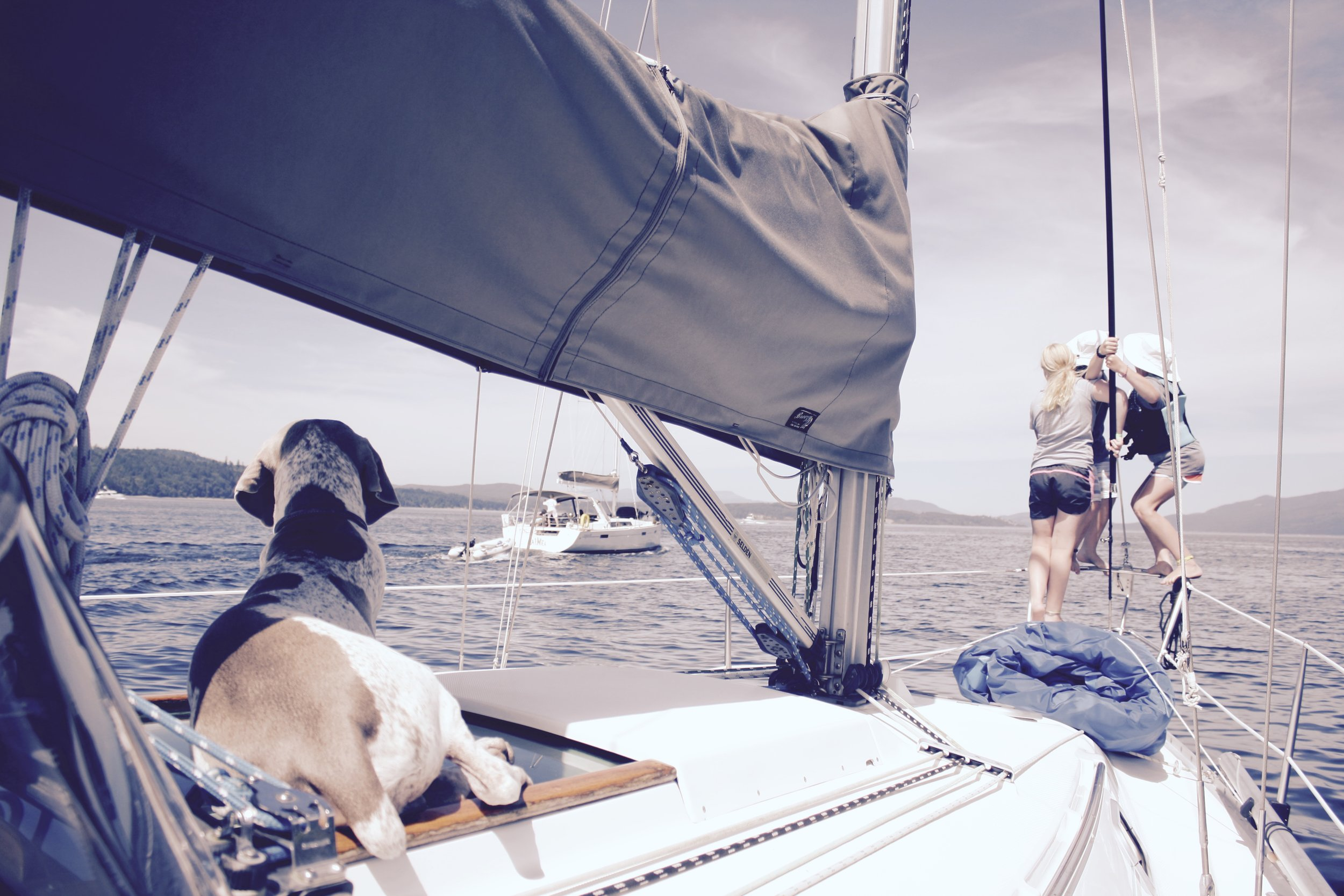 Sailing in the San Juan Islands, WA