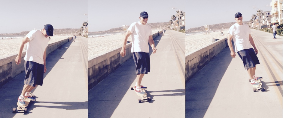Long boarding at Pacific Beach in San Diego, CA