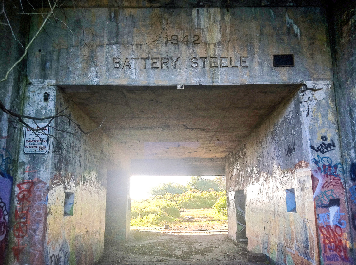 Battery Steele is a decommissioned WWII bunker on Peaks Island.I took this with an iPhone 4 while working a carpentry job out there my first summer in Maine. I was beginning to look for photographs everywhere I went.