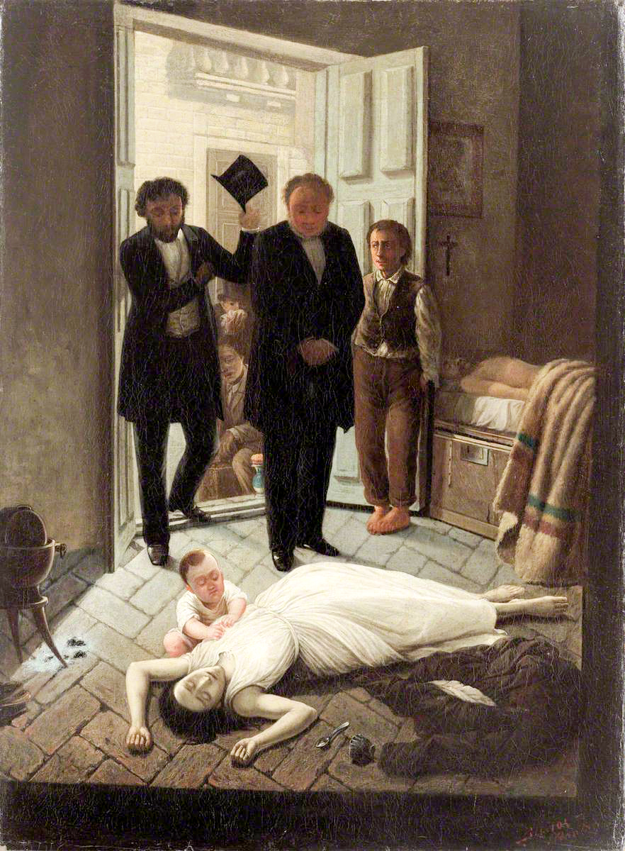 The Episode of the Yellow Fever , circa 1871,   by Juan Manuel Blanes is a haunting rendition of the pain brought to Buenos Aires, but also a depiction of illness befalling a specific household. One wonders how many scenes like this the People's Commission had to see.   José Roque Pérez is depicted in the center with with his hands clasped.