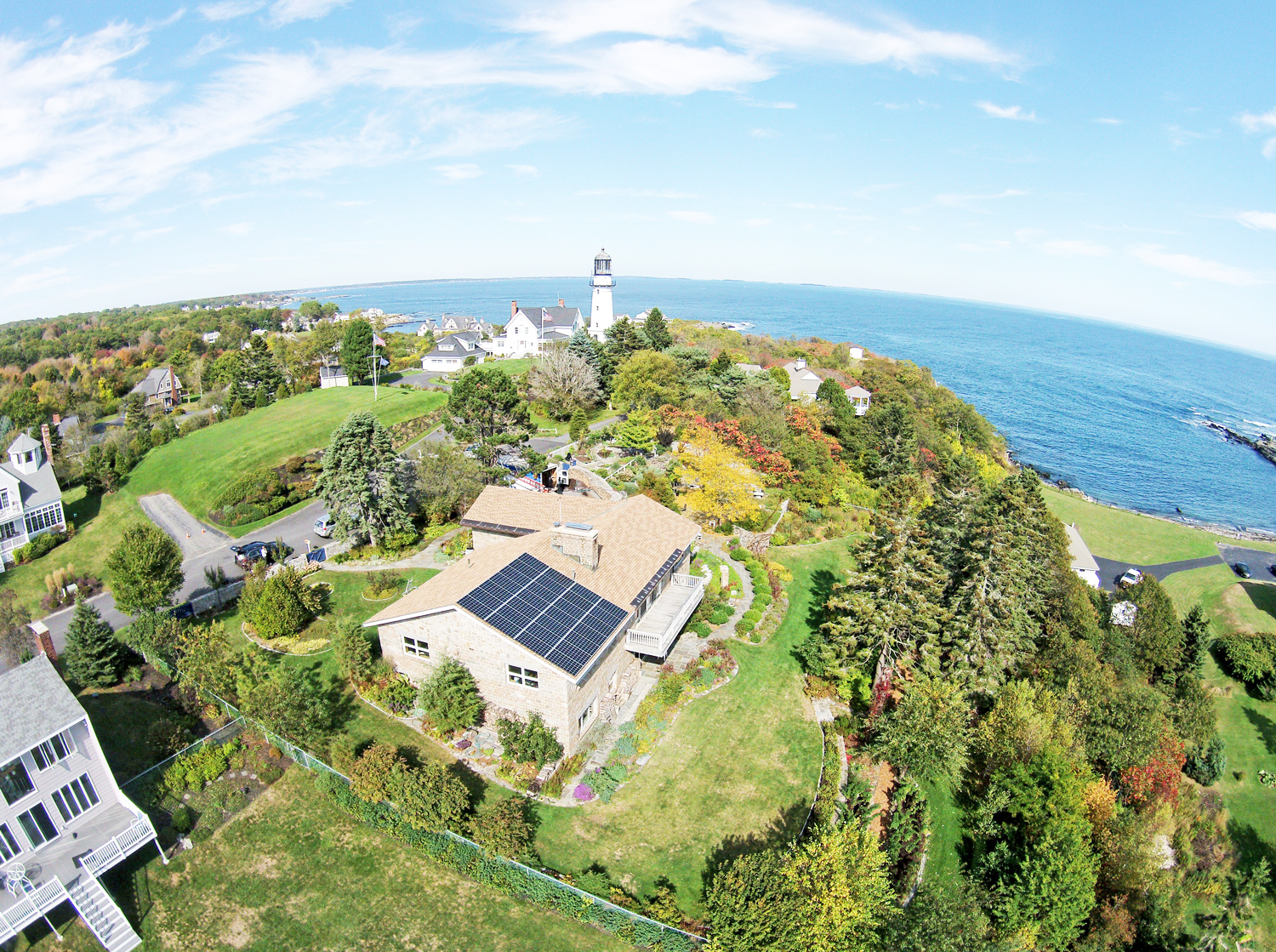 This home in Maine has solar panels paired with a Pika Islanding Inverter and Harbor smart battery and can  power critical loads during grid outage .