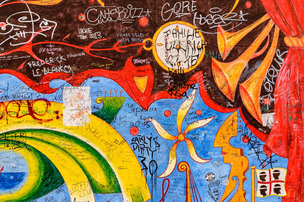 Abstract Street Art Berlin East Side Gallery
