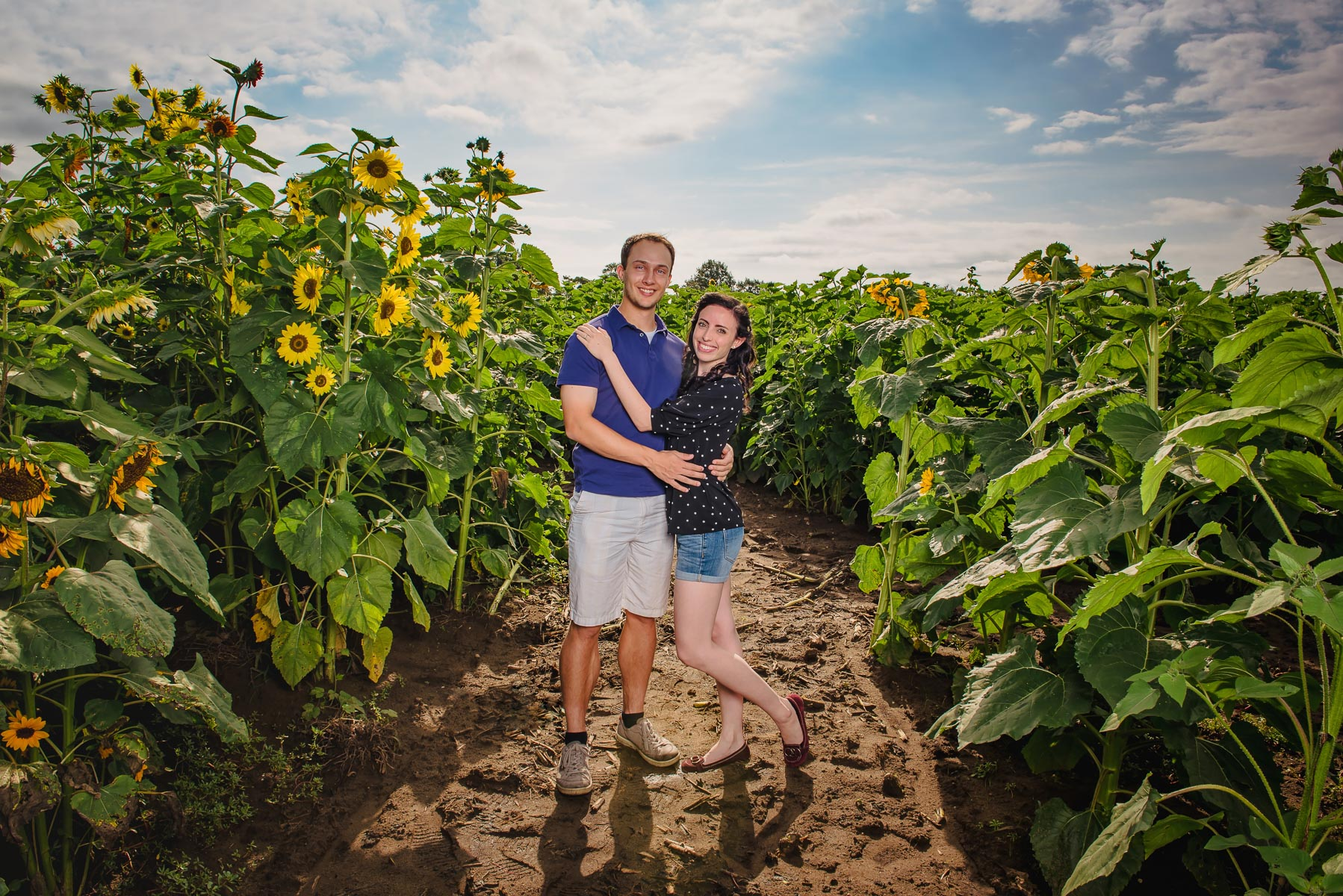 Sunflower farm engagement shoot _ Johnson's Locust Hall Farm _ Jobstown NJ-5.jpg