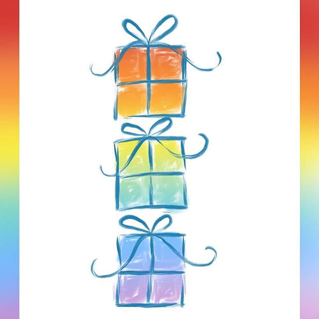 Border or no border on this new greeting card for any occasion?  #jenniferknightdesigns #thechrysalisroom #newwingstudio #shoplocal #shoplocalvirginia #virginia #createdtocreate #christiancreative #christianart #christianartist #digitalart #graphicdesign #simplycooldesign #ipadpro #applepencil #wemakewhatwesell #greetingcard #greetingcards #celebrate